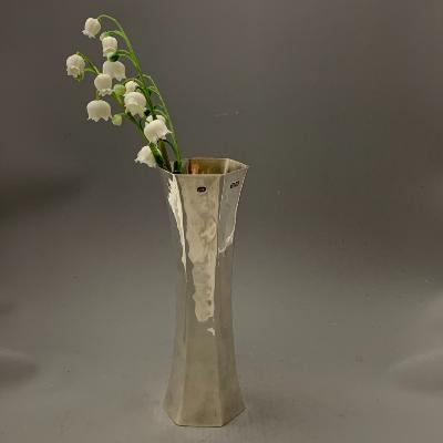 PRUDEN & SMITH Silver Reversible VASE and CANDLESTICK