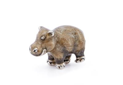 SATURNO Silver and Enamel Small HIPPO