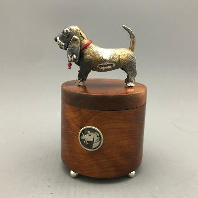 CAROL MATHER Silver & Walnut 'DOG' BOX