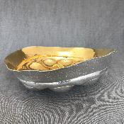 STEVE WAGER Large Silver 'BUMP' Bowl
