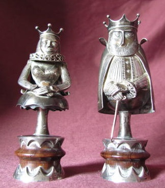 Pair Silver Chess Pieces