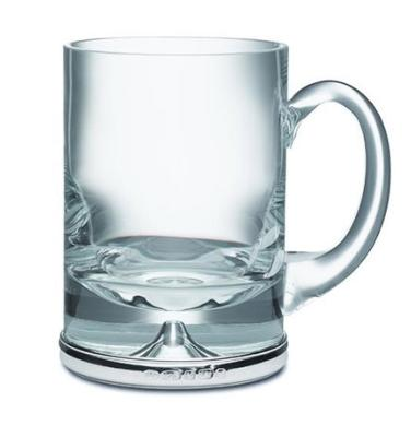 Silver and Glass Pint Mug