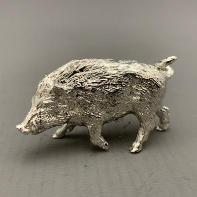 Silver WILD BOAR WALKING