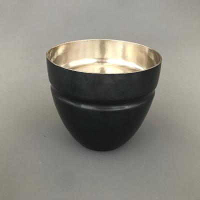 ADRIAN HOPE Oxidised Silver Beaker