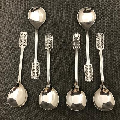 GERALD BENNEY Silver 'GUILD' Tea Spoons