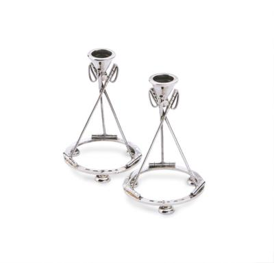 Silver Polo Candlesticks
