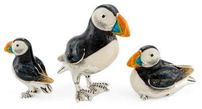 Silver and Enamel Puffin