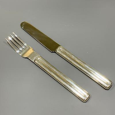 RICHARD FOX Silver 'ABOVO' KNIFE & FORK
