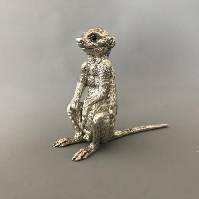 PATRICK MAVROS Silver Medium Seated Male MEERKAT