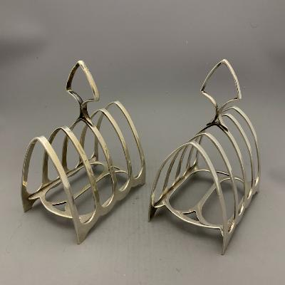 Pair Silver TOAST RACKS 1913