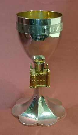 Silver Tower of London Goblet