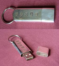 Silver Memory Stick Key Ring