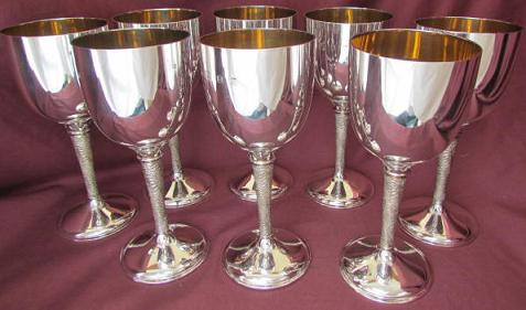 8 Silver Goblets