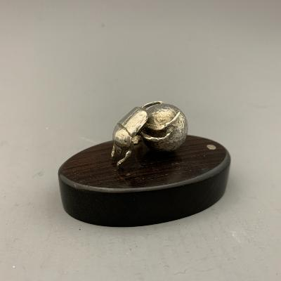 PATRICK MAVROS Silver DUNG BEETLE PLACE CARD HOLDER