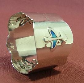 Silver and Enamel Art Nouveau Napkin Ring