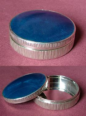 Blue Enamel Silver Box
