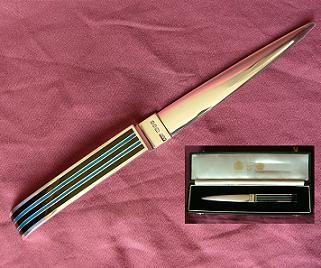 Large Silver and Enamel Letter Opener