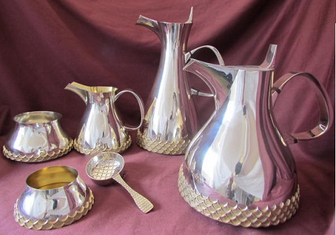GRANT MACDONALD 5 Piece Silver Tea/Coffee Service
