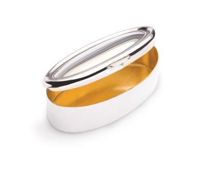 Silver Oval Pill Box