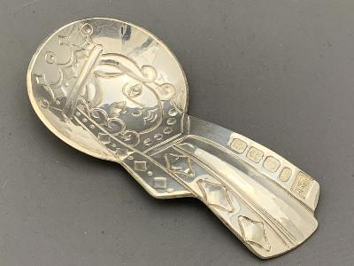 BRYONY KNOX Silver CADDY SPOON - QUEEN