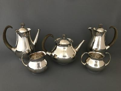 ERIC CLEMENTS Silver 5 PIECE TEA & COFFEE SET