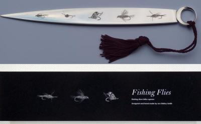 Silver 'Fishing Flies' Letter Opener