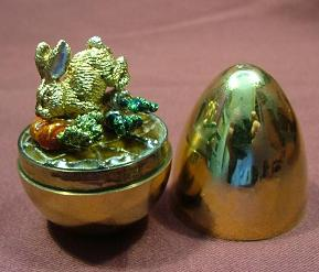 STUART DEVLIN Silver EGG - 'RABBIT & CARROT'