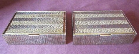 Pair Silver Gilt Boxes