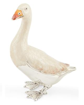Silver and Enamel Goose