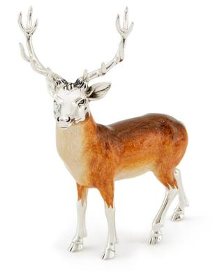 Silver and Enamel Stag