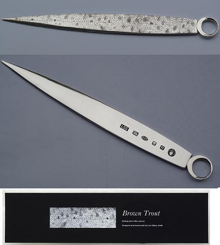 "Silver ""Brown Trout Scales"" Letter Opener"