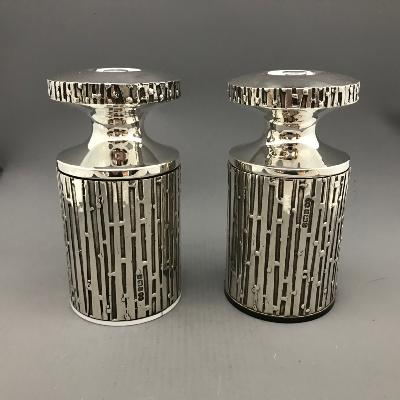 BRIAN ASQUITH Silver Salt & Peppermills