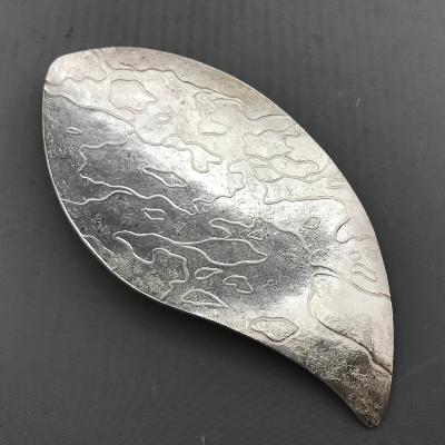 MIRIAM HANID Silver 'CHASED RIPPLES'  Caddy Spoon