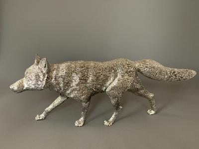 Silver LARGE FOX