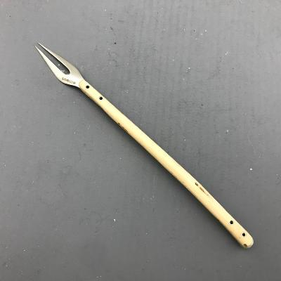 CHARLOTTE DUCKWORTH Silver & Holly Wood Handle PICKLE FORK
