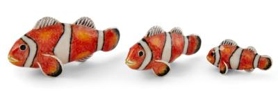 Saturno Silver and Enamel Clown Fish