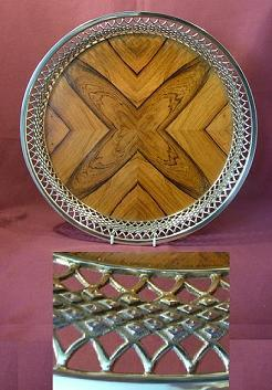 Silver and Wood Tray