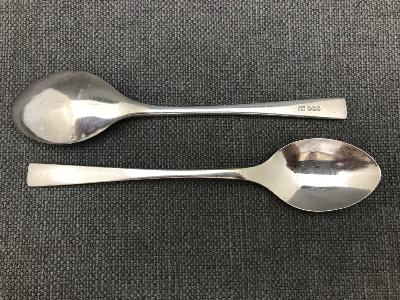 DAVID MELLOR 'Embassy' Pattern Silver Tea Spoon