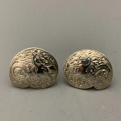 MALCOLM APPLEBY Silver DRAGON EARRINGS
