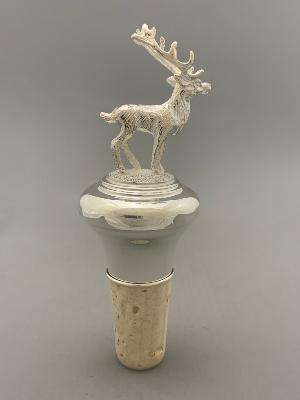 Silver BOTTLE STOPPER - STAG