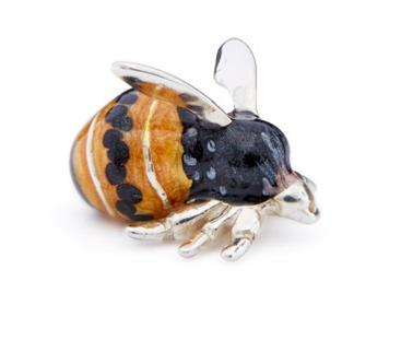 Saturno Silver and Enamel Bumble Bee