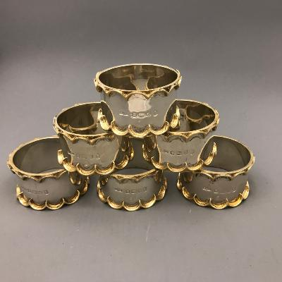 GRANT MACDONALD Set of 6 Silver Napkin Rings