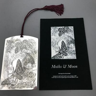 LEO SHIRLEY-SMITH Silver 'MOTHS & MOON' BOOKMARK