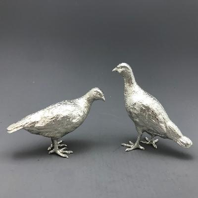 Pair Silver PARTRIDGES