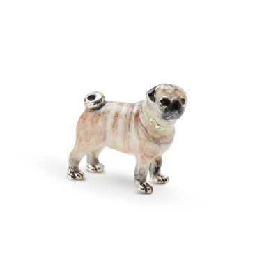 SATURNO Silver and Enamel PUG