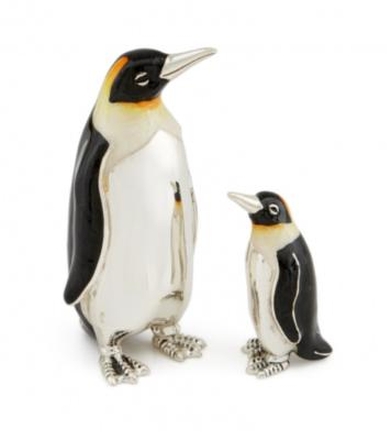 Silver and Enamel Penguin