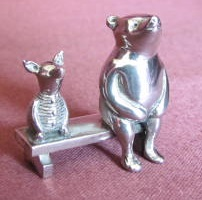 SARAH JONES Silver Pooh and Piglet