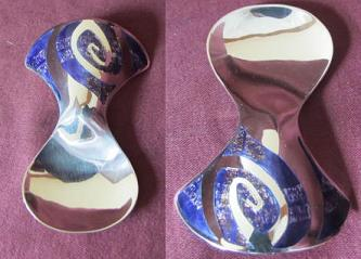 SHEILA McDONALD Enamelled Silver Caddy Spoon