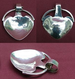 A E JONES Silver Caddy Spoon