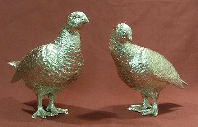 x Pair Silver Grouse